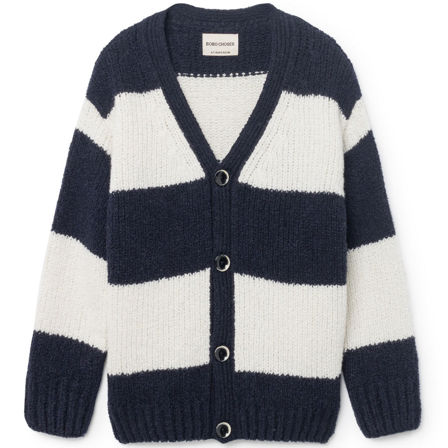 Bobo Choses Strickjacke Blockstreifen