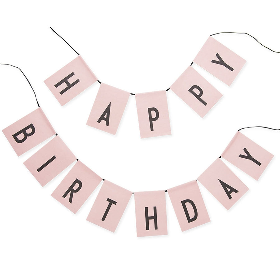 "Design Letters Girlande ""Happy Birthday"" Pink"