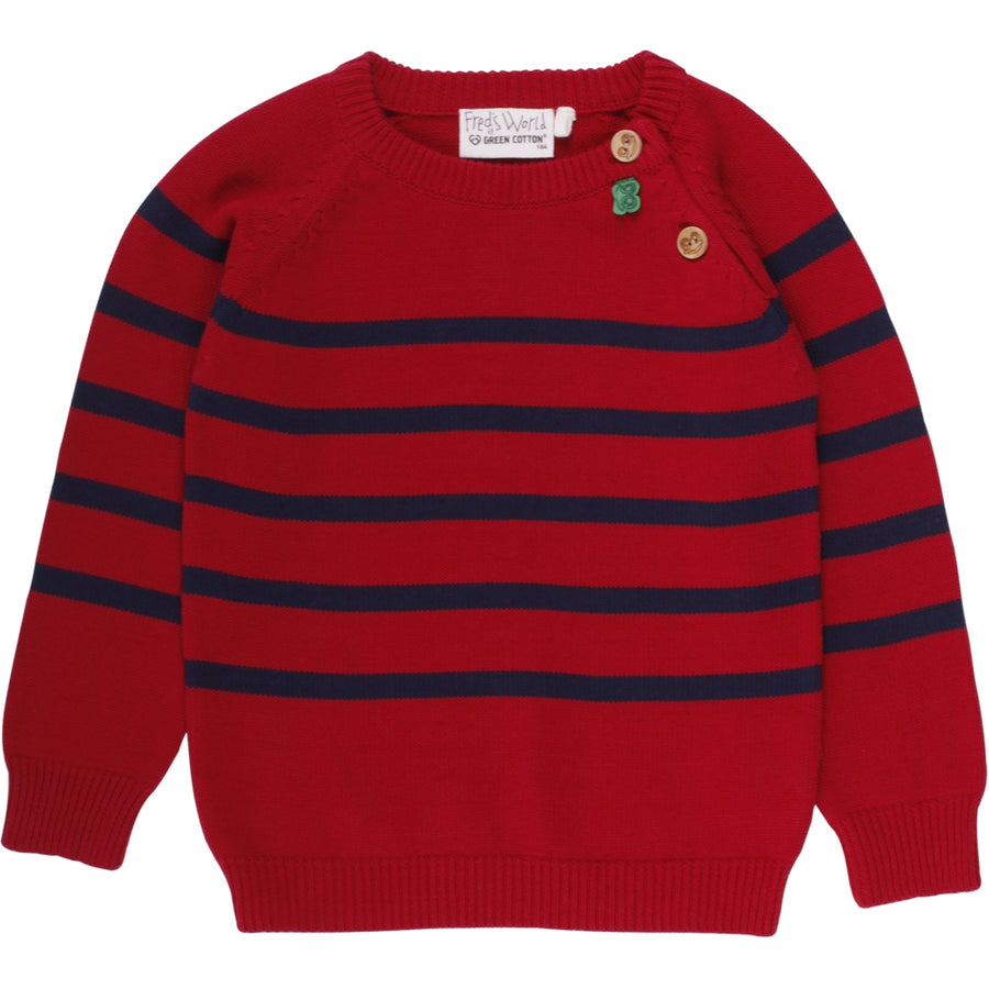 Fred's World by Green Cotton Pullover Streifen Rot Baby