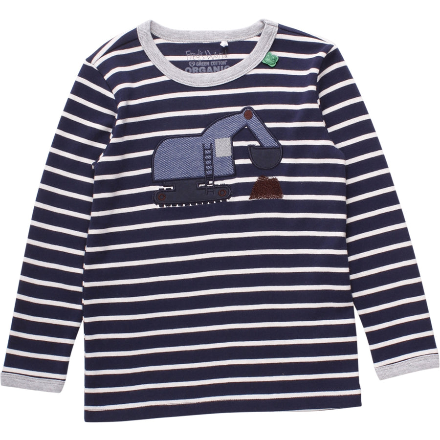 Fred's World by Green Cotton Langarmshirt Bagger Navy Junior