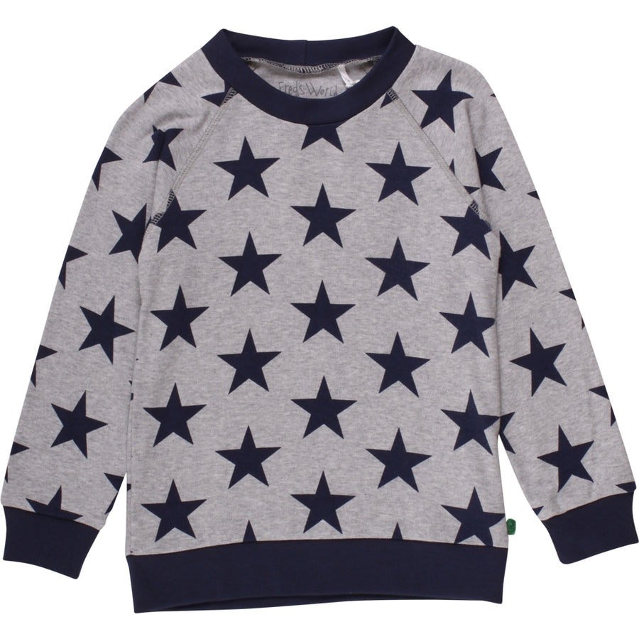 Fred's World by Green Cotton Pullover Sterne Hellgrau