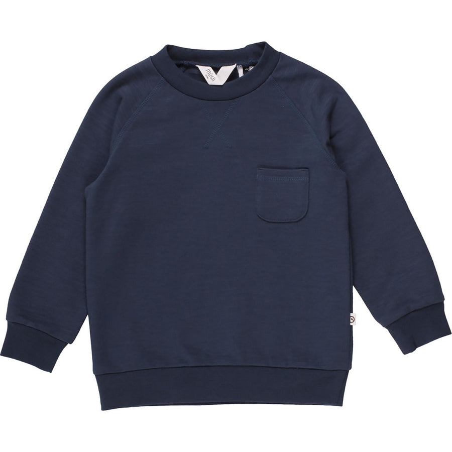 Müsli by Green Cotton Pullover Slub Mitternachtsblau