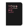 Navucko Booklet A6, You & Me, black