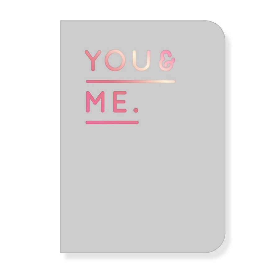 Navucko Booklet A6, You & Me, grey