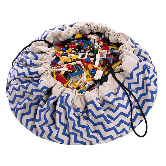 Play&Go Spielsack ZigZag blue