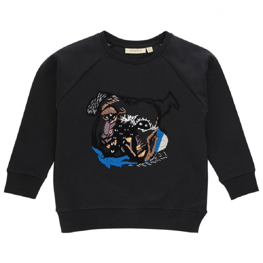 Soft Gallery Chaz Sweatshirt Boxer Embroidery Peat