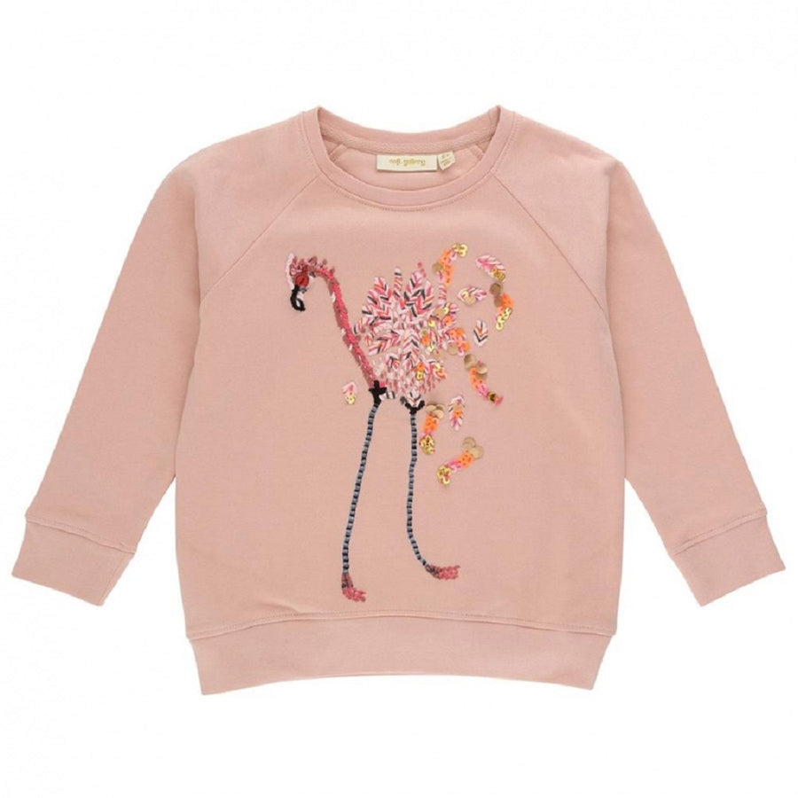 Soft Gallery Chaz Sweatshirt Flamingo Embroidery Rose Cloud