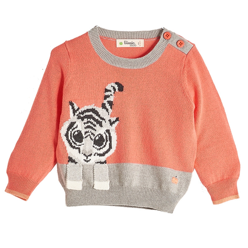 The Bonnie Mob Raffa Sweater Tiger Sorbet
