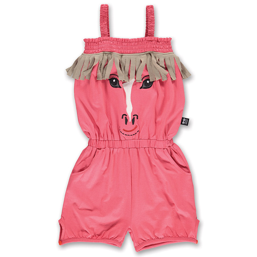 Ubang Jumpsuit Horse Rose Red