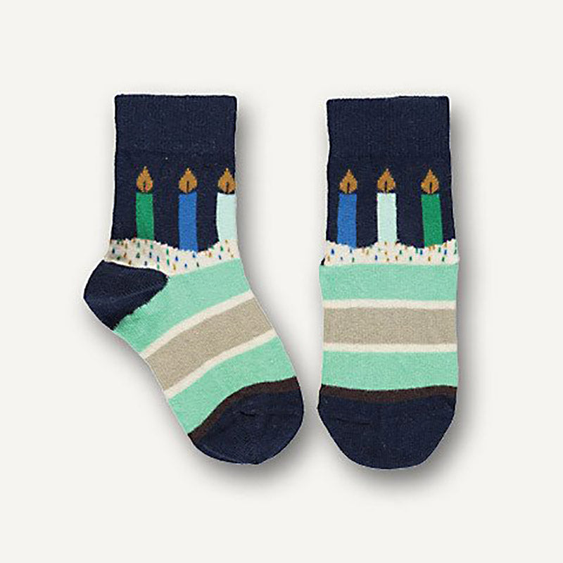 Ubang Socken Birthday Navy