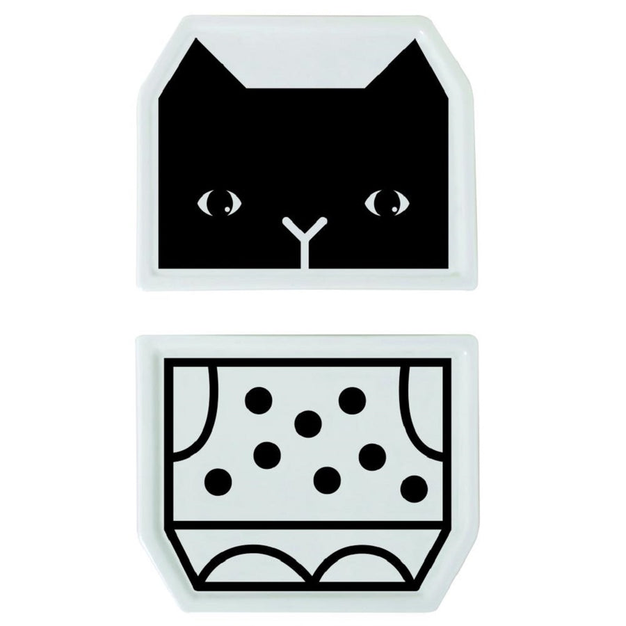 Wee Gallery Mix & Match Plates Cat Teller-Set