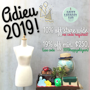 Happy Old Year 2019! *Final sale for the year till 31 December NOW ON!