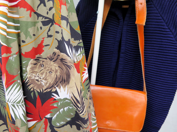 Simba Baba | Vintage 1980s call of the wild Lion jungle safari print Skirt