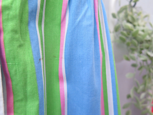 Tra-la-la | Vintage 1960s 1970s pink white blue green candied stripes sundress