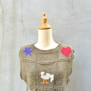 Tic Tac Toe | Vintage 1970s Sweater Knit