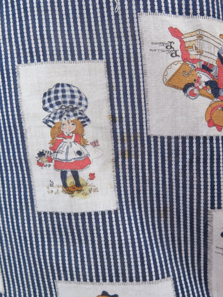 Storybook Hippie | Vintage 1960s 1970s Holly Hobbie vintage print Pinstriped Top