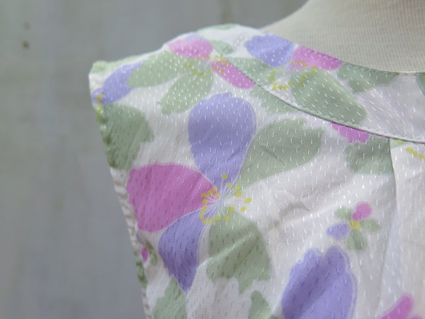 Tricolorscope | Vintage 1950s 1960s Pastel Pink Purple Green Sweet Day Dress