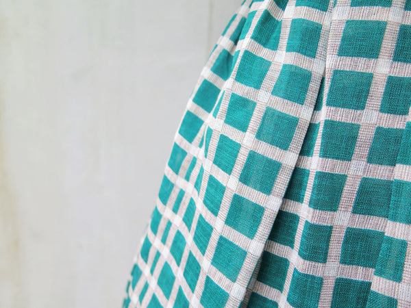 Matcha | Vintage 1960s/70s green and ocra Swing skirt dress