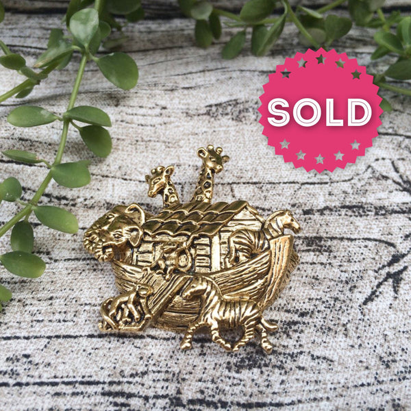 Ride the Waves | Vintage AVON signed Noah's Ark novelty brooch