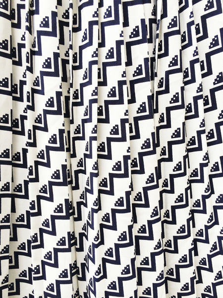 Made in Singapore | Rare Vintage 1970s made-in-singapore Geometric Print Skirt
