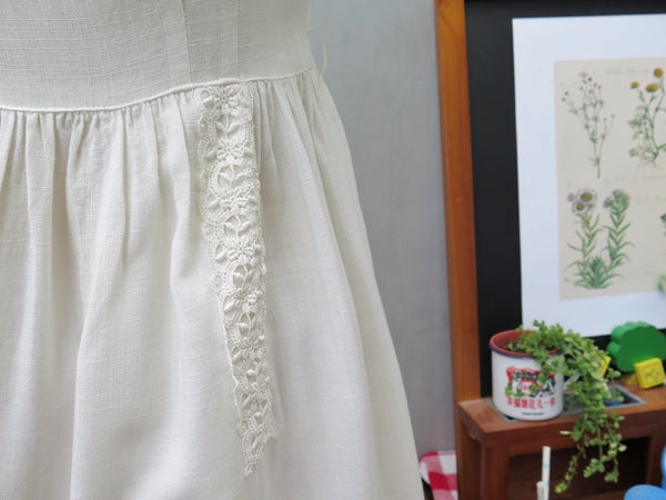 Consignment | Cream de Crop | Vintage 1950s 1960s Cream lace Day Dress