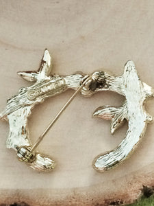 "Vintage Sarah Coventry ""Letter C"" Twig Branch series Designer Brooch"