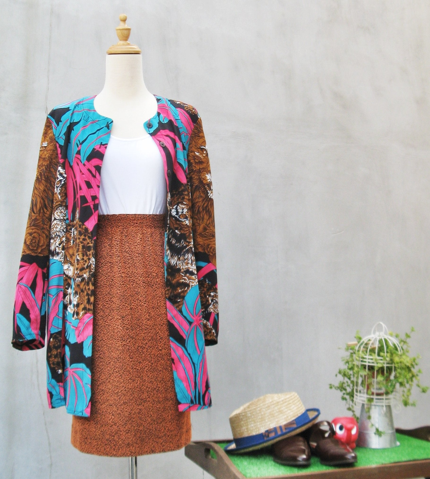 SALE! |  Hunting Season | Vintage 80s super Safari Feline print Disco punk jacket