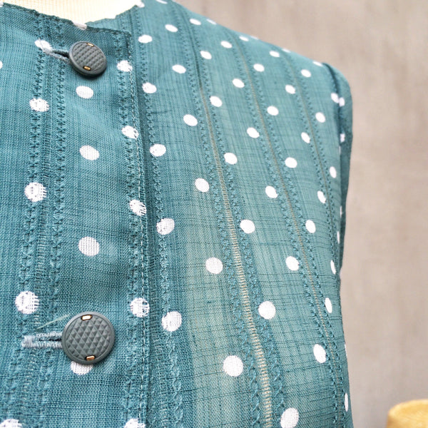 On the Dot | Vintage 1940s/50s polka dot day dress with Pockets