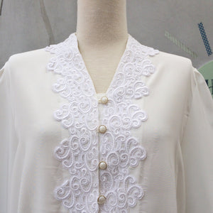 SALE! | Operatic Nights | Vintage 1940s embroidery lace bust and Pearl gold gilded buttons