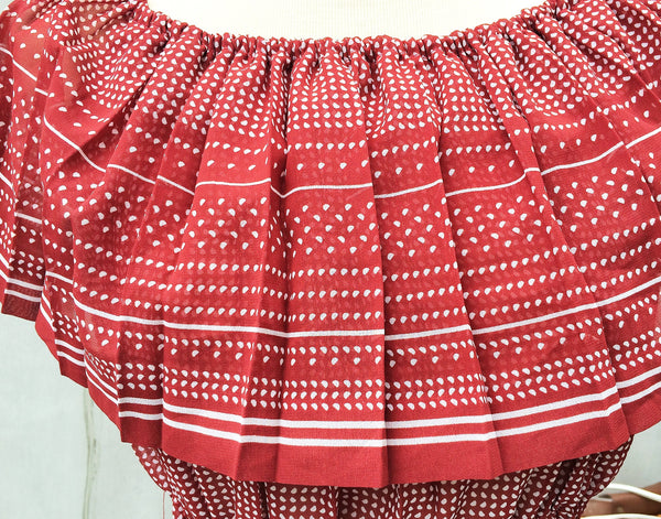 SALE! |  Sssst... Hot! | Retro 60s sexy swing cropped top Red polka dot print