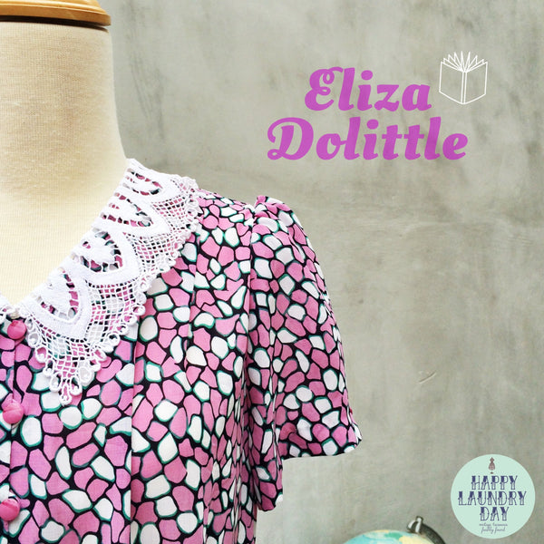 SALE! |  Eliza Dolittle | Mosaic print Purple and