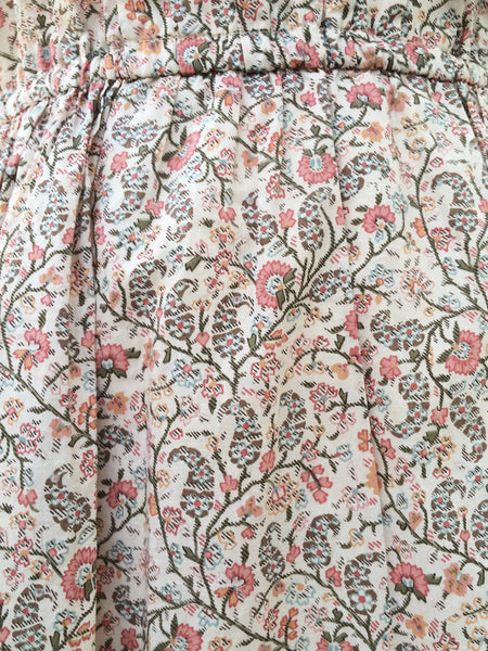 Too cool for school | Vintage 1980s collared paisley Floral print pleated front Tea dress