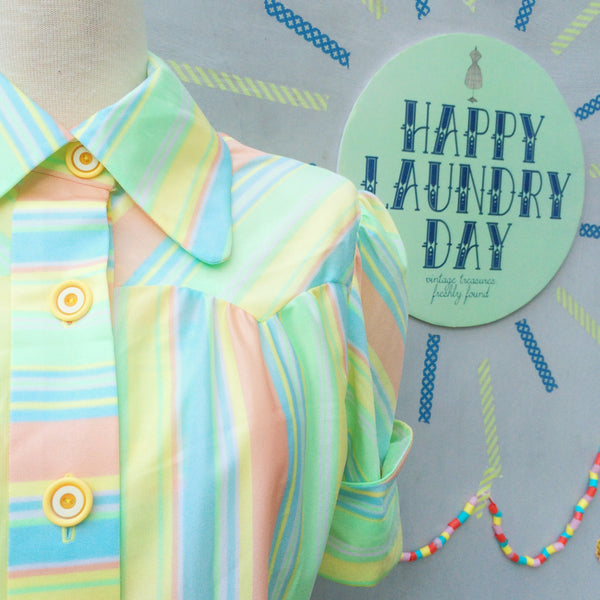 Happy Jelly Babies | Vintage 1960s pastel Green Yellow Pink Blue