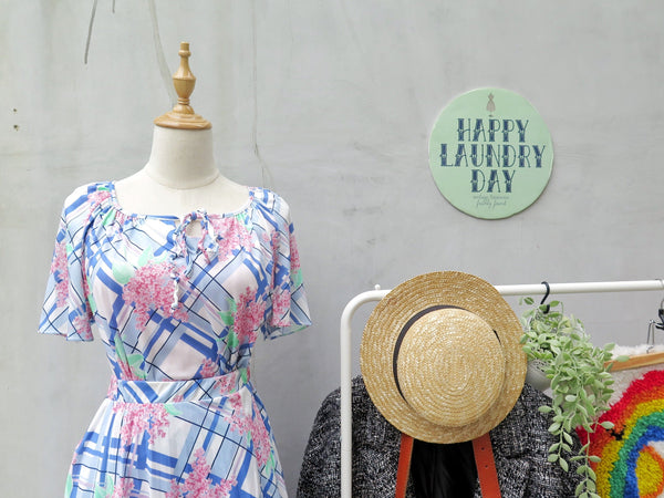 My Fair Lady| Vintage 1970s 1980s two-piece Sweetheart Pink and blue Floral print Skirt Blouse suit