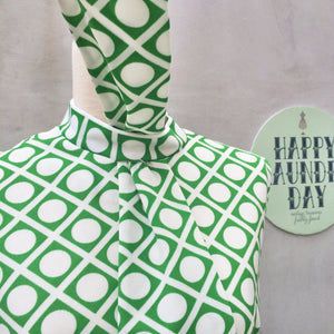 Green Groove Baby | Vintage 1960s Green and White Polka Dot | Shagedelic Baby!