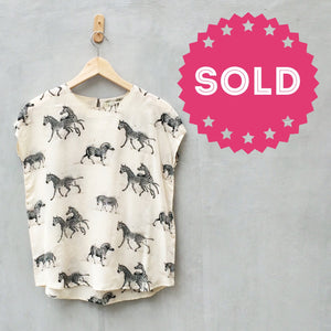 Zebra without Stripes | Cute 80s retro Zebra print Blouse top Silky smooth