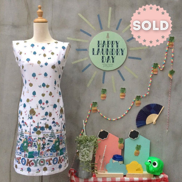 Tokyo Tizzy | Vintage 1960s novelty print homemade shift dress
