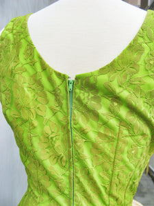 Lime Light | Vintage 1950s tailored Lace Wiggle Dress