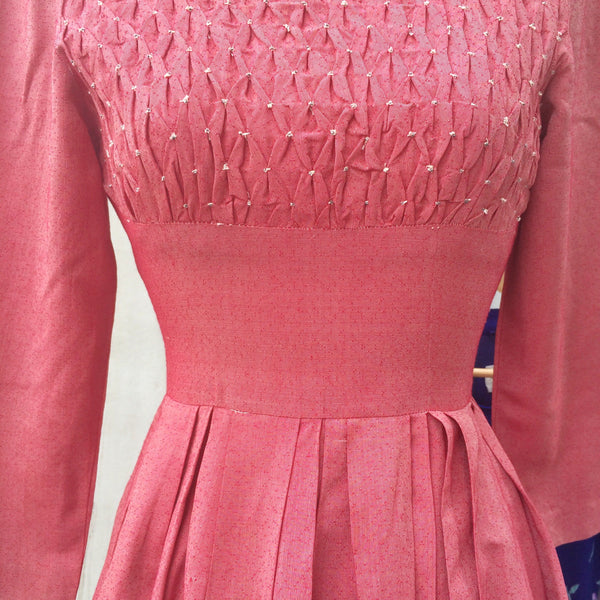 Need Bead | Vintage 195160s babydoll beaded Smocking Dinner Party Dress