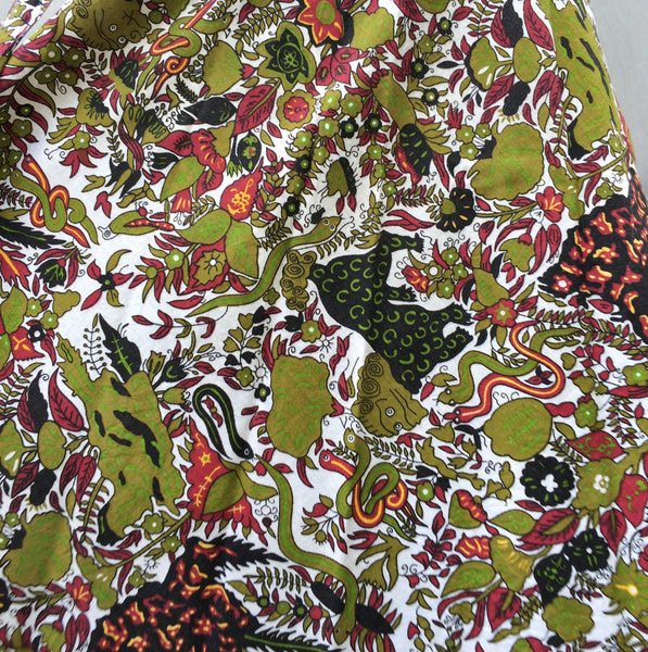 Beginning of Time | Vintage 1950s 1960s Adam and Eve deadstock fabric Wrap Skirt