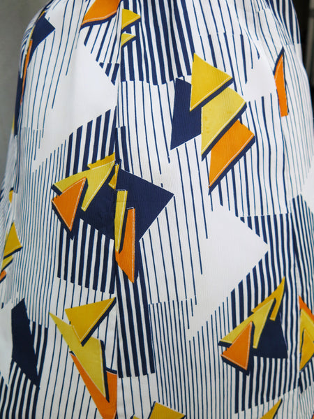 Dash Pash | Vintage 1960s 1970s Geometric print blue orange yellow shapes Short Dress