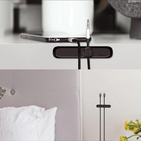Image of Magnetic Cable Clips Cable Holder Desktop Cable Mount Cord Management