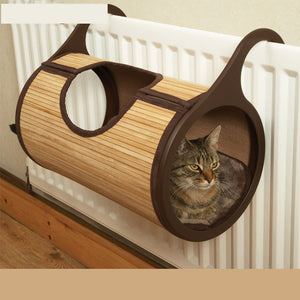 Natural Bamboo Radiator Hanging Cat Bed