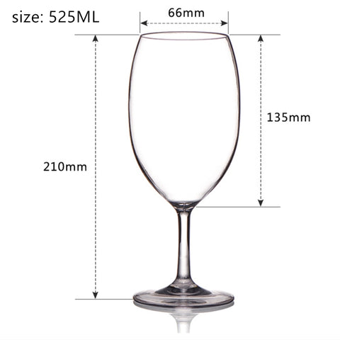 Image of Unbreakable  Plastic Wine Glasses cups Tritan BPA free unbreakable