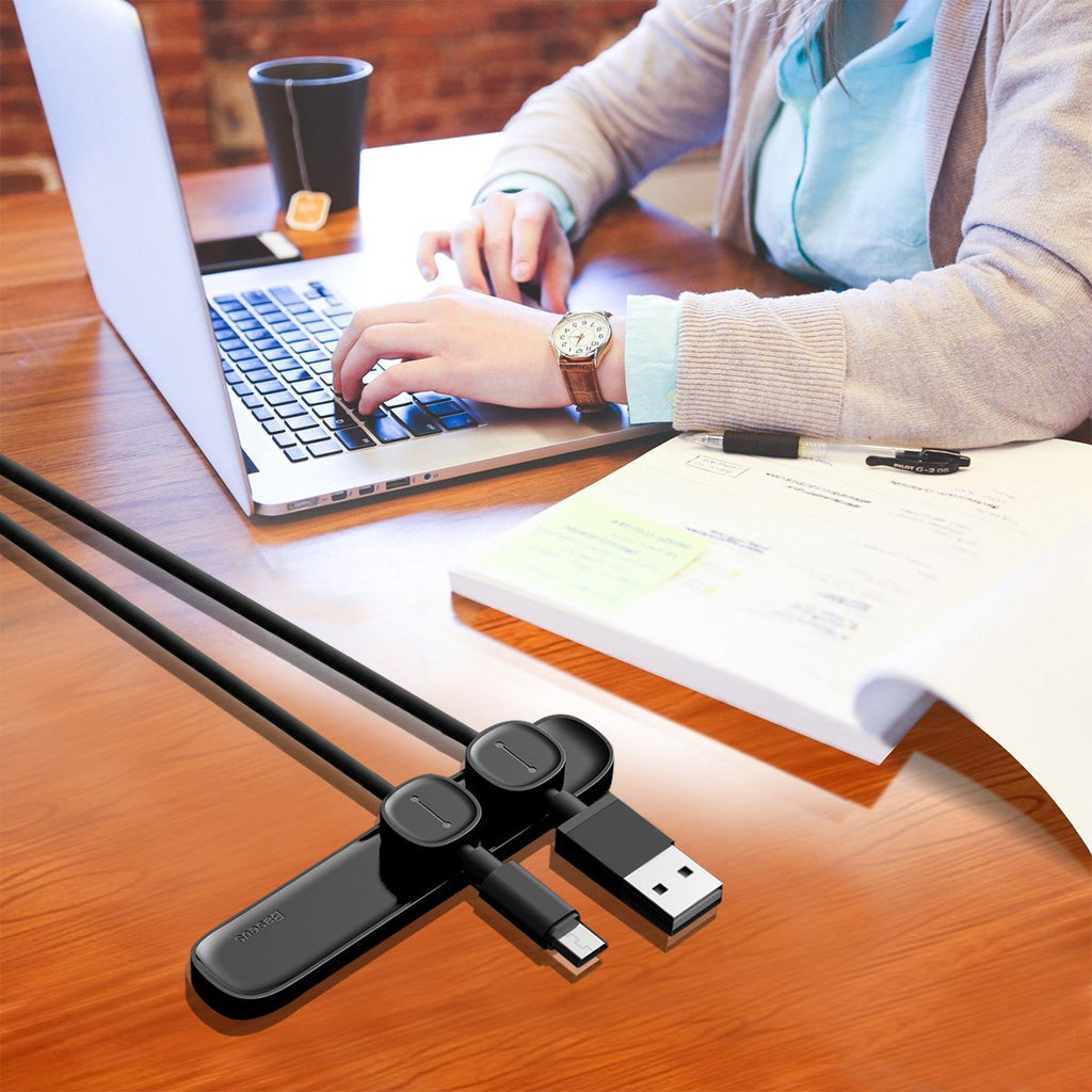 Magnetic Cable Clips Cable Holder Desktop Cable Mount Cord Management