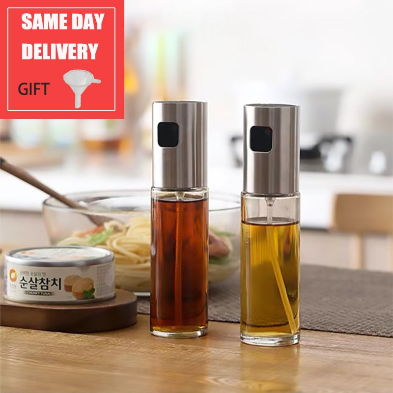 Glass Olive Oil or Vinegar Bottle Dispenser Sprayer