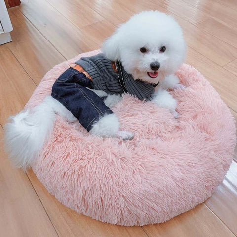 Round Plush Cat or Dog Bed