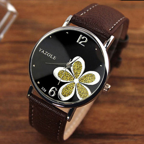 Image of Ladies Flower Wrist Watch