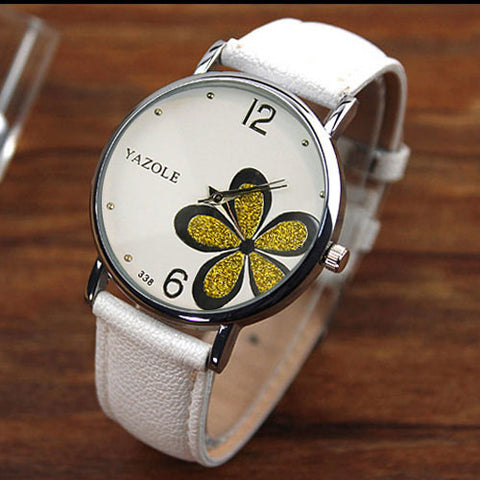Ladies Flower Wrist Watch