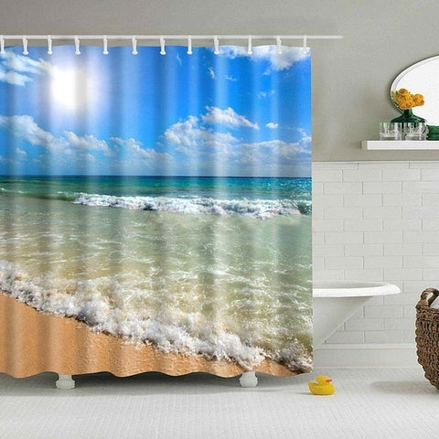Image of Waterproof Polyester Fabric Shower Curtain